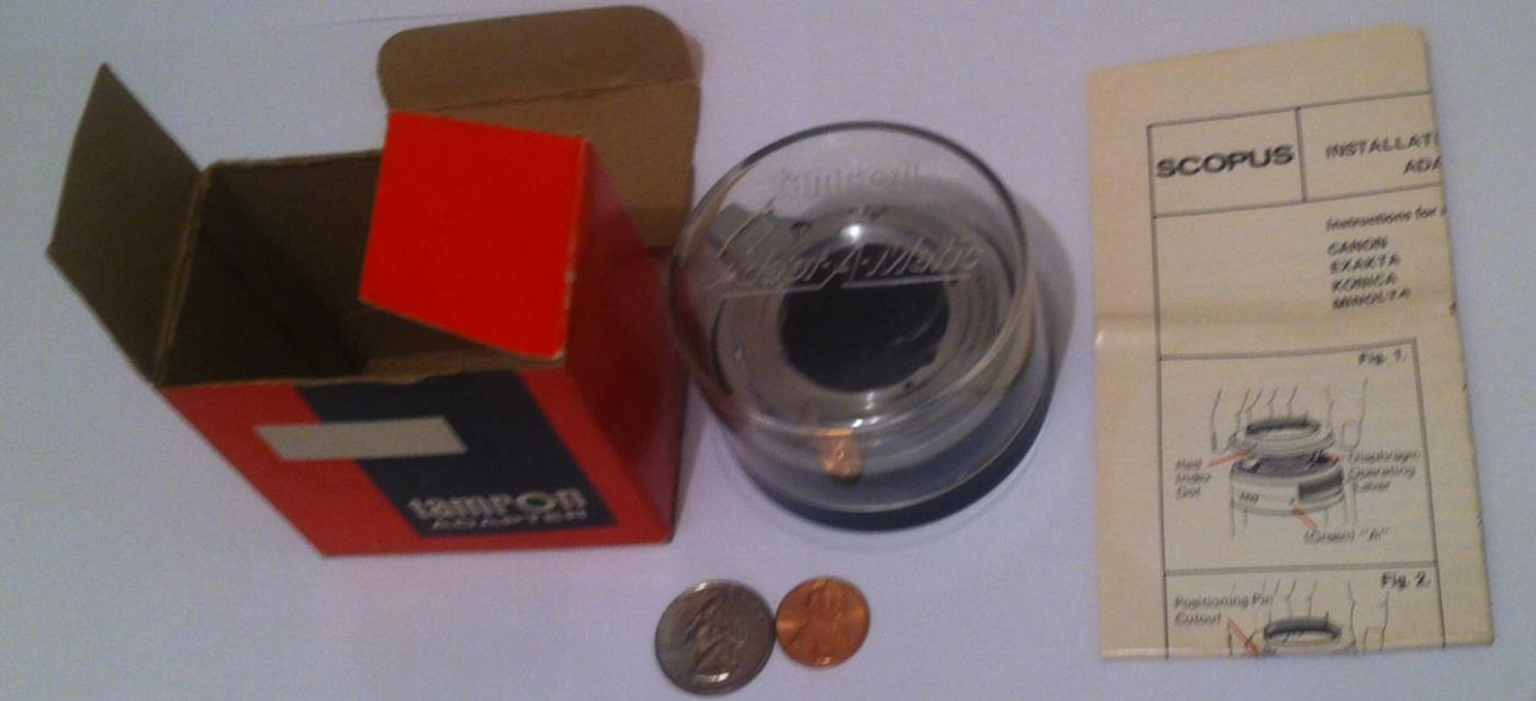 Vintage Scpous Tamron Adapter, Made in Japan, Original Box and Manual, Photo, Photography, Pictures, Fun