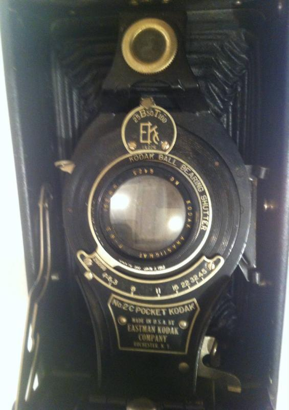 Vintage Kodak Fold Up Camera no.2c Pocket, Made in USA, Shelf Display, Home Decor, Photo, Photography, Pictures, Fun, Pictures