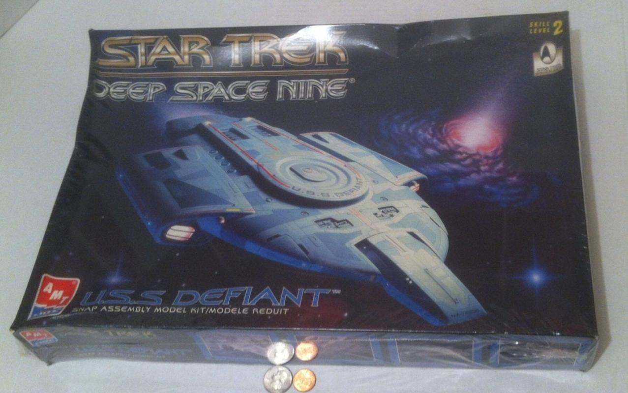 Vintage 1996 Model, Still Factory Sealed, Made in Mexico, U.S.S. Defiant, Star Trek Deep Space Nine, Ertl, Skill Level 2, Still Unopened