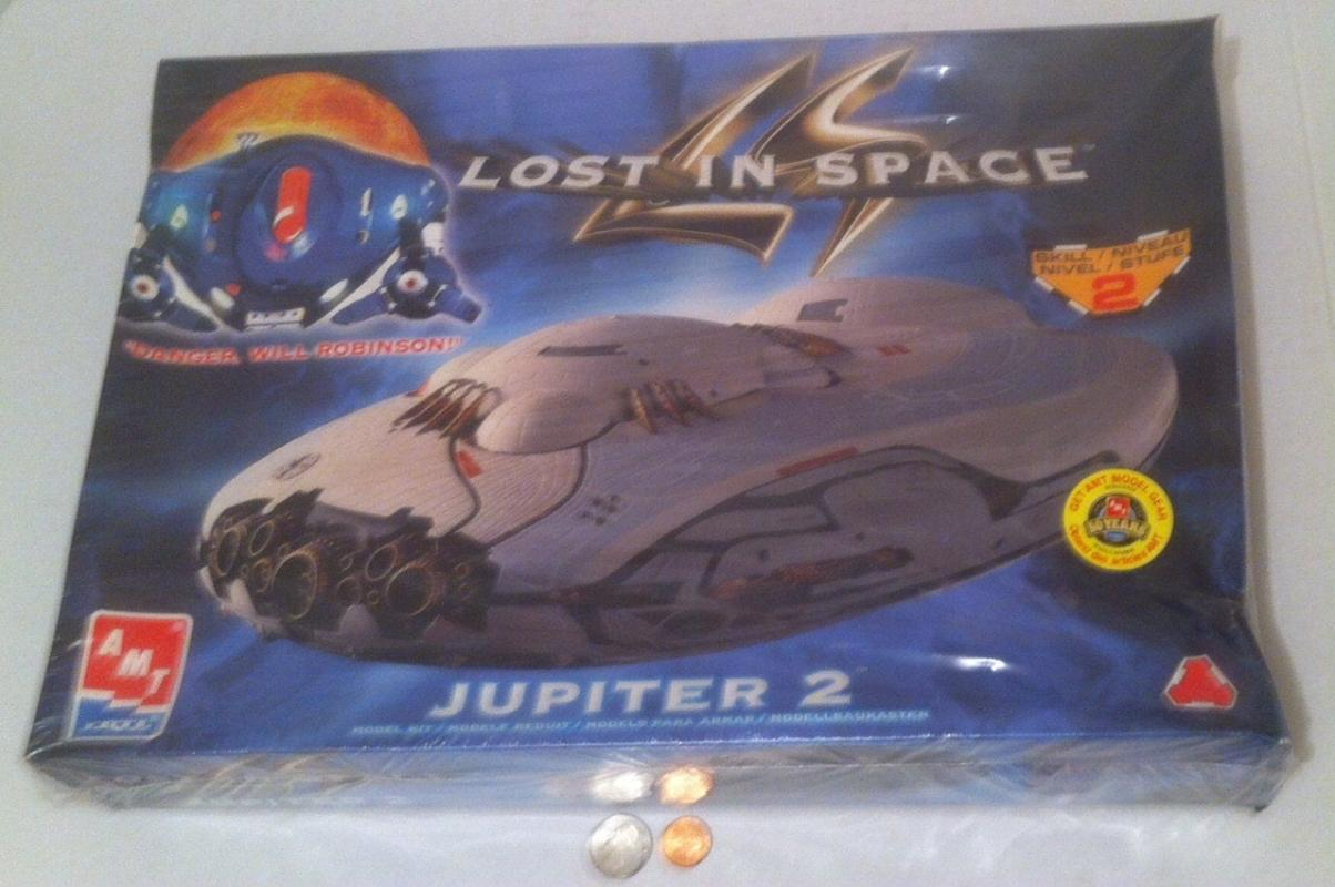 Vintage 1998 Model, Still Factory Sealed, Made in Mexico, Lost in Space, Jupiter 2, Ertl, Skill Level 2, Still Unopened.  Box size is