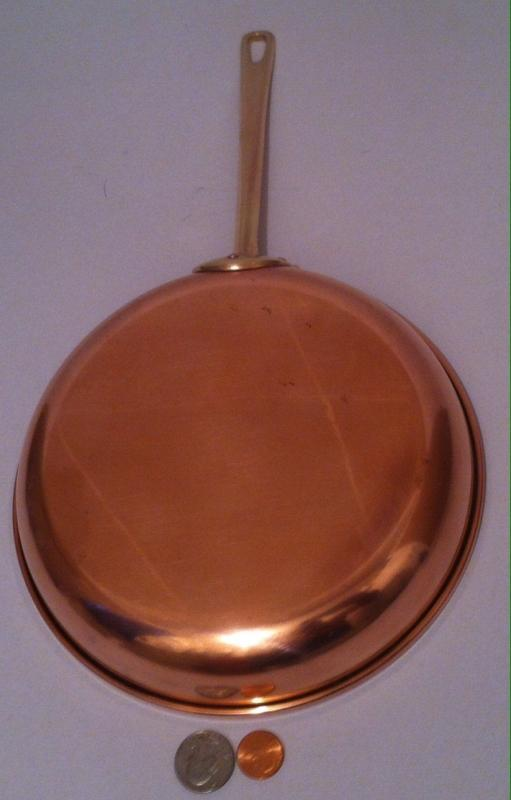 Vintage Metal Copper & Brass Frying Pan, Heavy Duty, Made in Portugal, Kitchen Decor, Hanging Decor, Copper Collection, 15