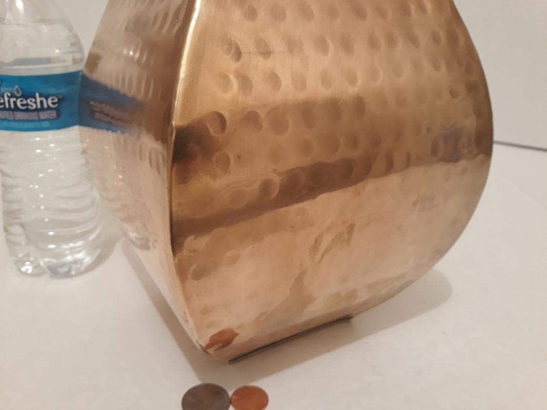 Vintage Large Size Metal Brass Vase, 13