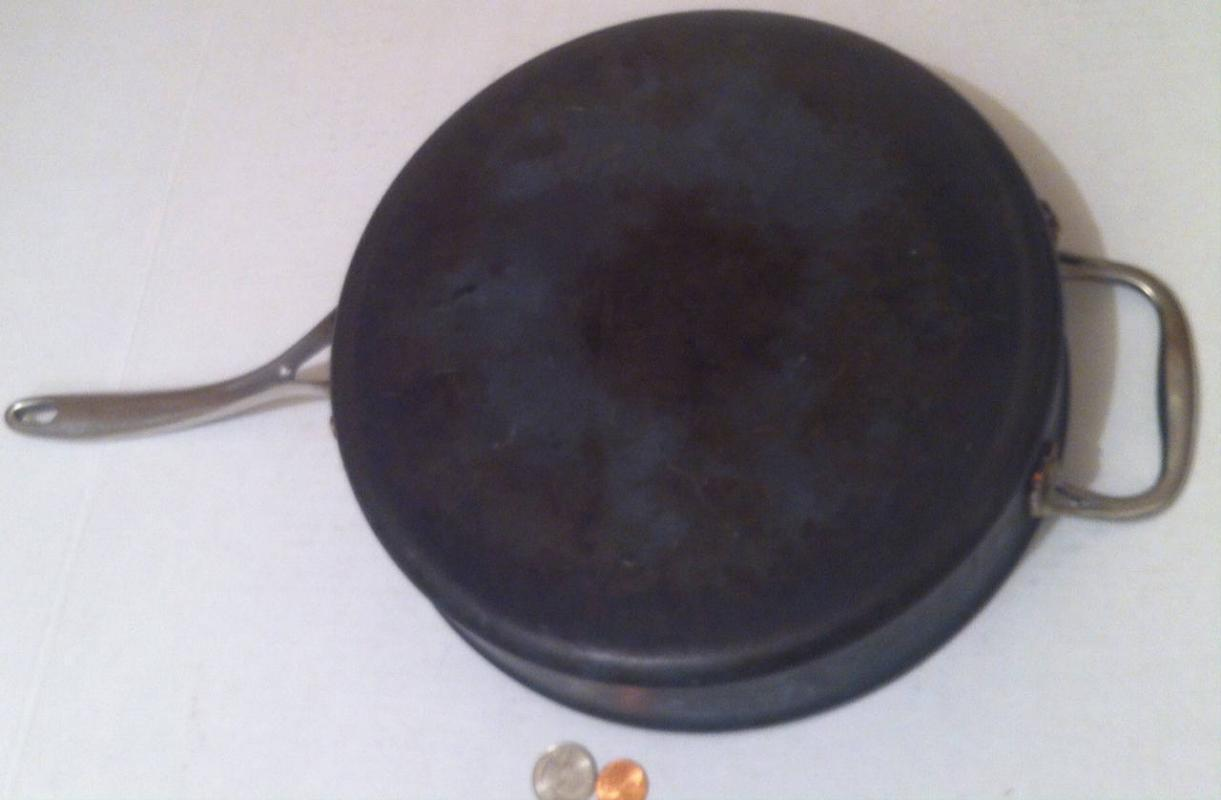 Vintage Heavy Duty Calphalon Frying Pan, Made in USA, Quality Heavy Duty Frying Pan, Cookware, Chrome Handles, 10