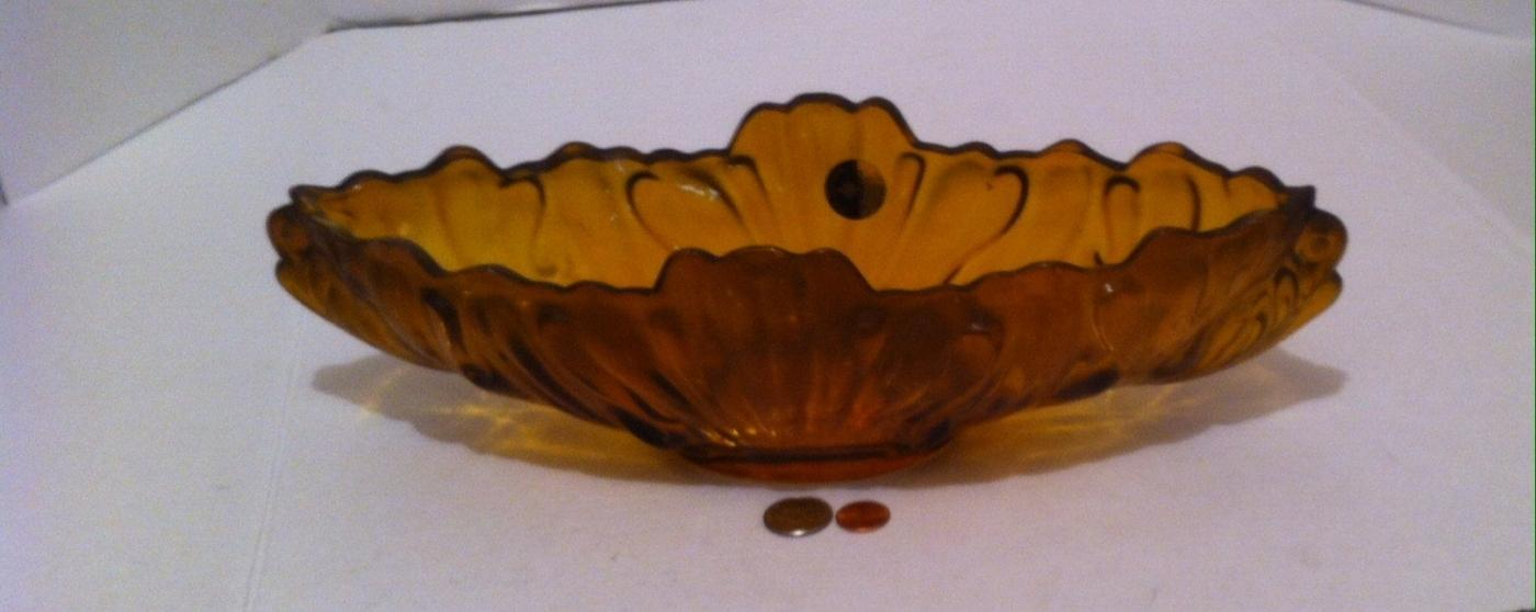 Vintage Amber Colored Fine Glassware by Jeannette, Quality Thick Heavy Duty Glass, 15