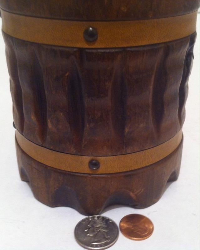 Vintage Wooden Round Wood Storage Box, Stash Box, Handcrafted in Spain, Heavy Duty Quality, 6