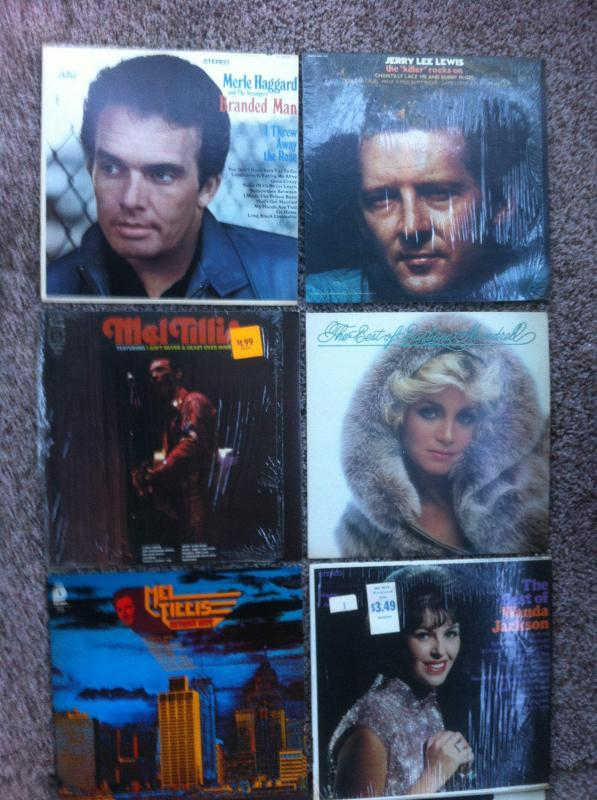 Vintage Lot of 8 Country Music Albums, Merle Haggard, Jerry Lee Lewis, Mel Tillis, Barbara Mandrell, Wanda Jackson, Don Williams, Vintage