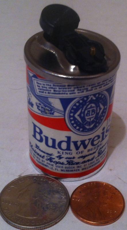 Vintage Metal Budweiser Beer Lighter, Table Display, Shelf Display, Beer Collection, Metal Lighter, Cigarette, Cigars.