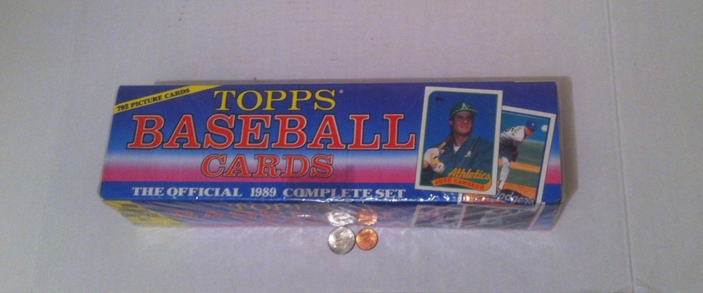Vintage Sealed Box Of 1989 Topps Baseball Cards Player Cards The Off