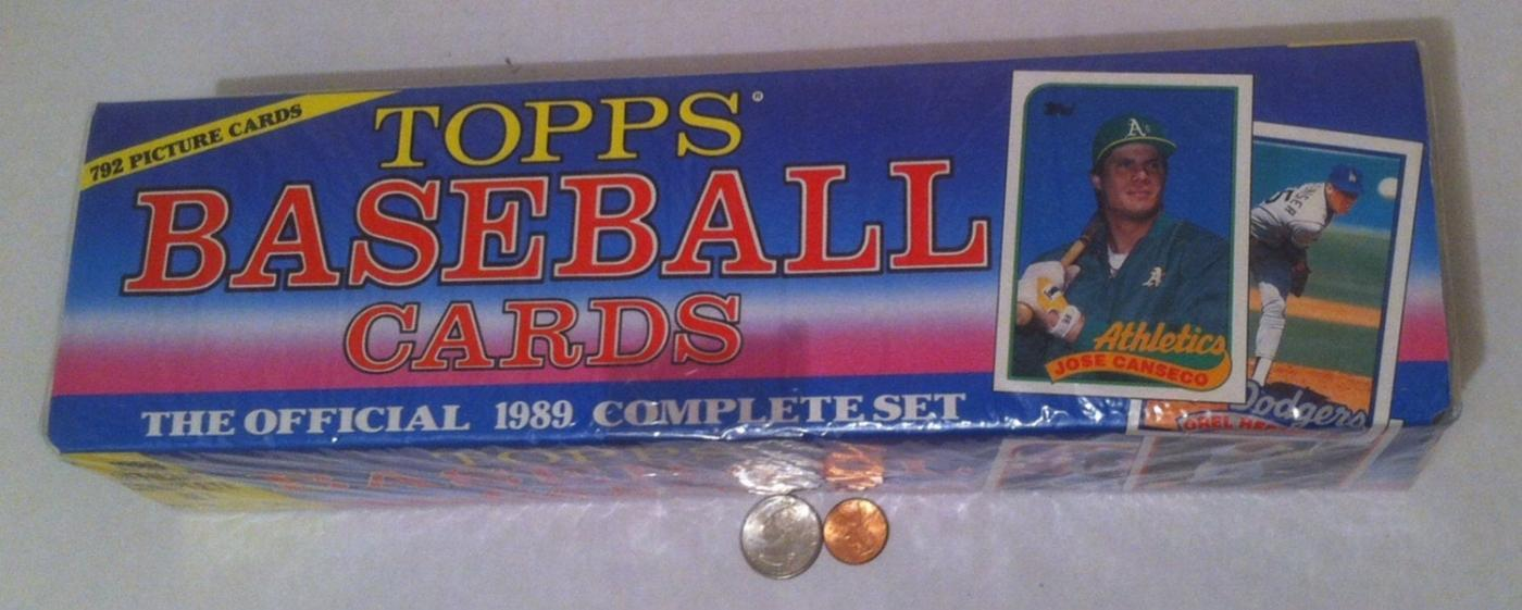 Vintage Sealed Box of 1989 Topps Baseball Cards, Player Cards, The Official Complete Set, 792 Cards, Gift Set, Baseball Playing Cards