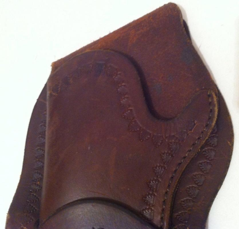 Vintage Quality Leather Gun Holster, R. J. Rohan Maker, Silver Conchoe, Fits Any Belt Almost, 11