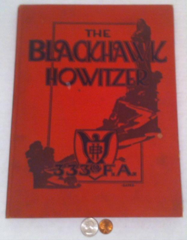 Vintage 1919 Book, The Blackhawk Howitzer, Academy, Yearbook, Lots of Fold Out Pictures, Hardcover, 12 x 9 1/2, Military Heros, Old Book