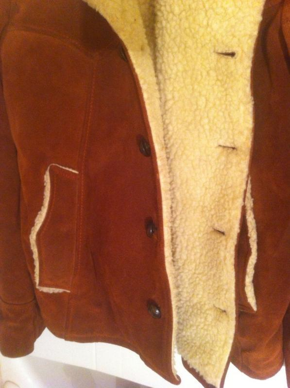 Vintage Leather Suede Jacket Size 44, Nice Heavy Duty Warm Quality Leather Jacket, Thick Quality, Lined Sleeves, Western Style Nice Jacket