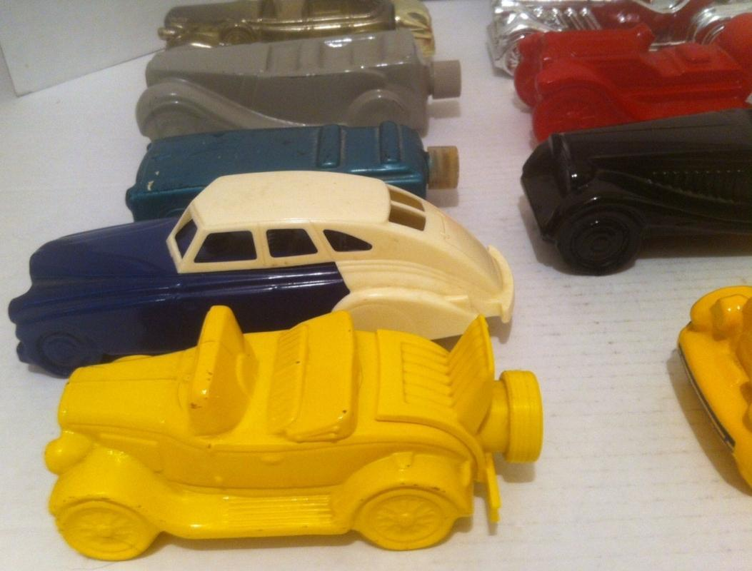 Vintage Lot of 14 Glass Cars, Antique Cars, Vintage 60's and 70s Avon Bottles, Car Collection, Lots of Cool Antique Cars, Home Decor, Shelf