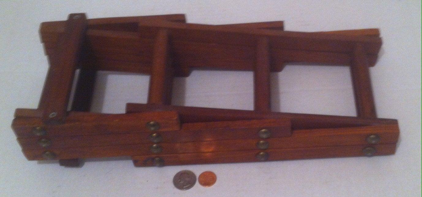 Vintage Wooden Quality Teak Wood Folding Wine Rack, Bottle Holder, Made in Thailand, Quality 6 Bottle Rack Holder, Table Decor, Counter