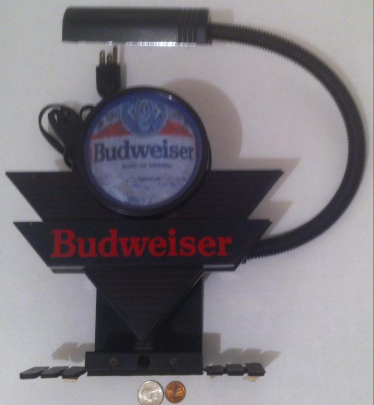 Vintage 1991 Budweiser Light, Made in USA, Anheuser-Busch, Inc, Movable Light, Electric, National Industrial Workers Union, Quality Made