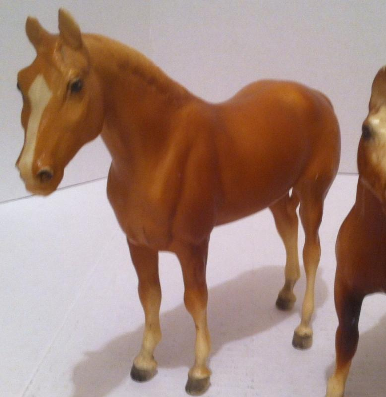 4 Vintage Horses, Statues, Shelf Decor, Country & Western, The Biggest One is 9 1/2