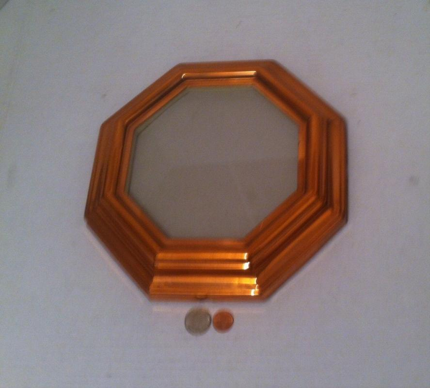 Vintage Copper Metal Picture Frame, Home Decor, Shelf Display, Photography, 10