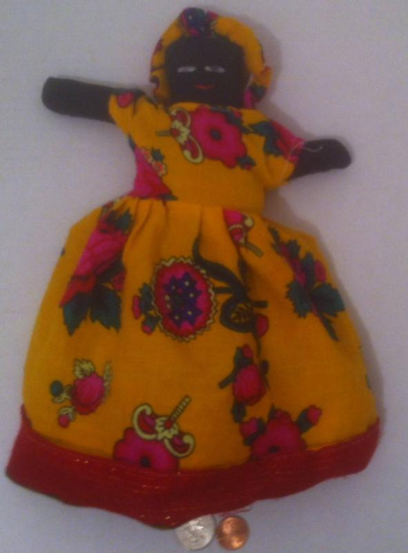 Vintage Topsy Turvy Doll, Double Headed Doll, Vintage Old Very Nice Doll, Colorful Clean Clothes, Plantation Era Doll, Fancy Dress, Quality