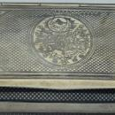 RARE antique Ottoman Empire silver&niello cigarette case/snuff box.Tughra.Mint