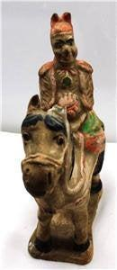 WOW! Important antique Chinese Tang Dynasty pottery horsman general on horse!