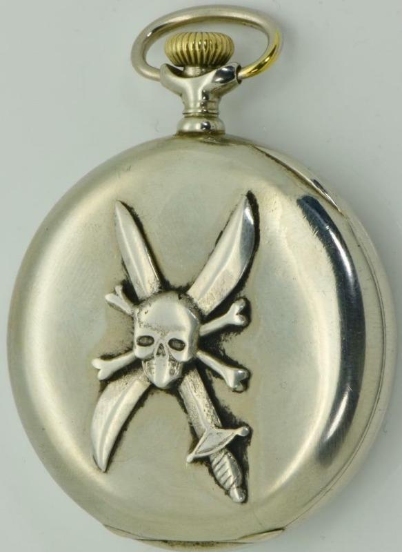 Imperial Russian White Army Pilots award Skull and Propeller Longines pocket watch