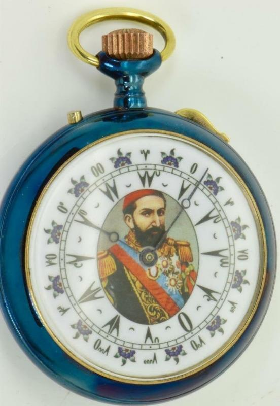 ONE OF A kind antique lecoultre two face pocket watch for ottoman army c1890s