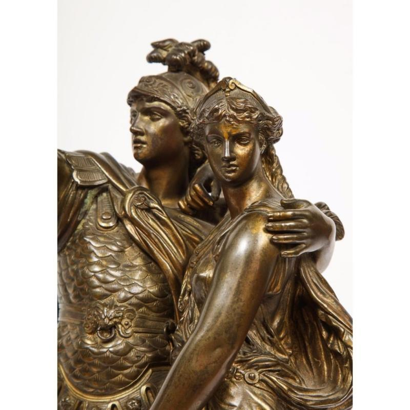 J. L. Gregoire, A French Bronze Figural Group