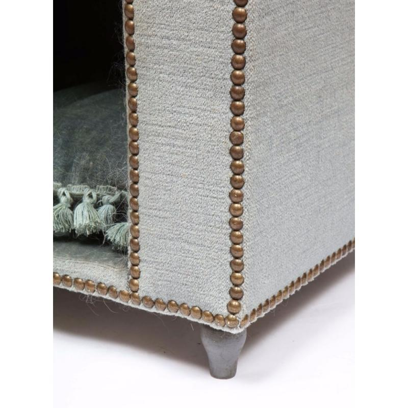 Exquisite French Louis XVI Style Velvet-Upholstered Niche de Chien 'Dog Bed'