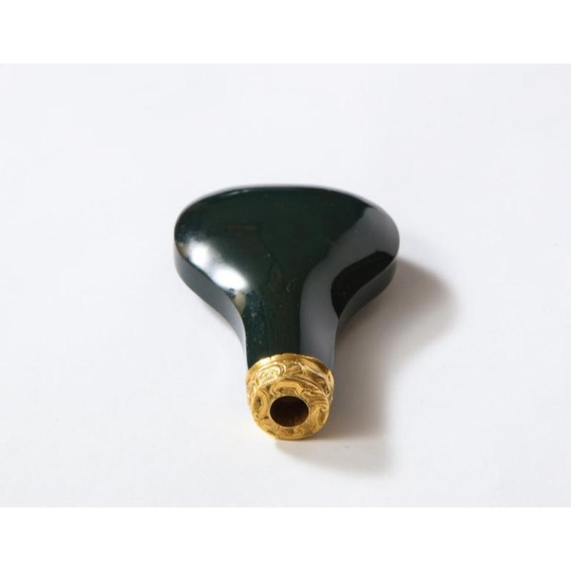 George II English 18 Karat Gold and Bloodstone Perfume Bottle