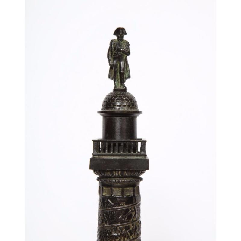 French Grand Tour Bronze of the Place Vendome in Paris, 19th Century