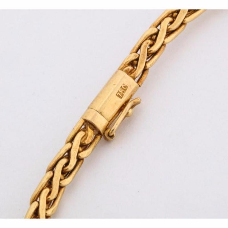 18 Karat Gold, Diamonds and Chinese Jade Necklace and Bracelet Set