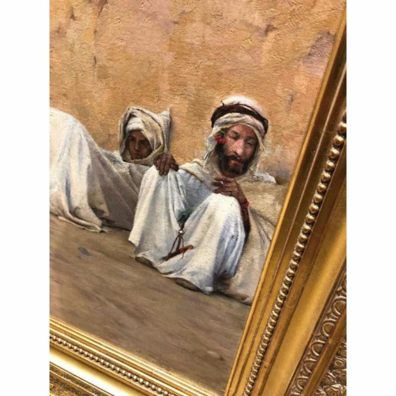 Charles James Theriat Orientalist Oil Painting, circa 1890