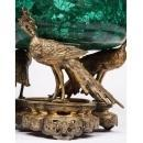 French Japonisme Phoenix Bronze and Malachite Centerpiece by G. Viot, E. Cornu