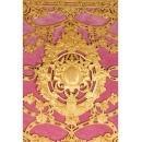 American Gilt Bronze Ormolu-Mounted Pink Velvet Desk Set E. F. Caldwell & Co.