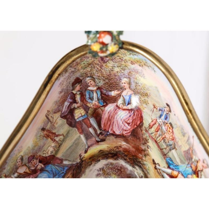 Good Quality Antique Silver-Mounted Viennese Enamel Bowl, Hermann Ratzersdorfer