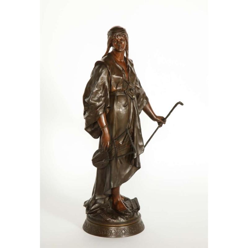 Emile-Louis Picault, a French Orientalist Bronze Figure of Queen Esther