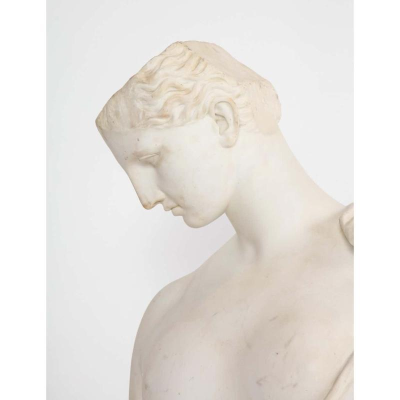 An Antique Italian Neoclassical Marble Bust of Psyche, by Giuseppe Carnevale