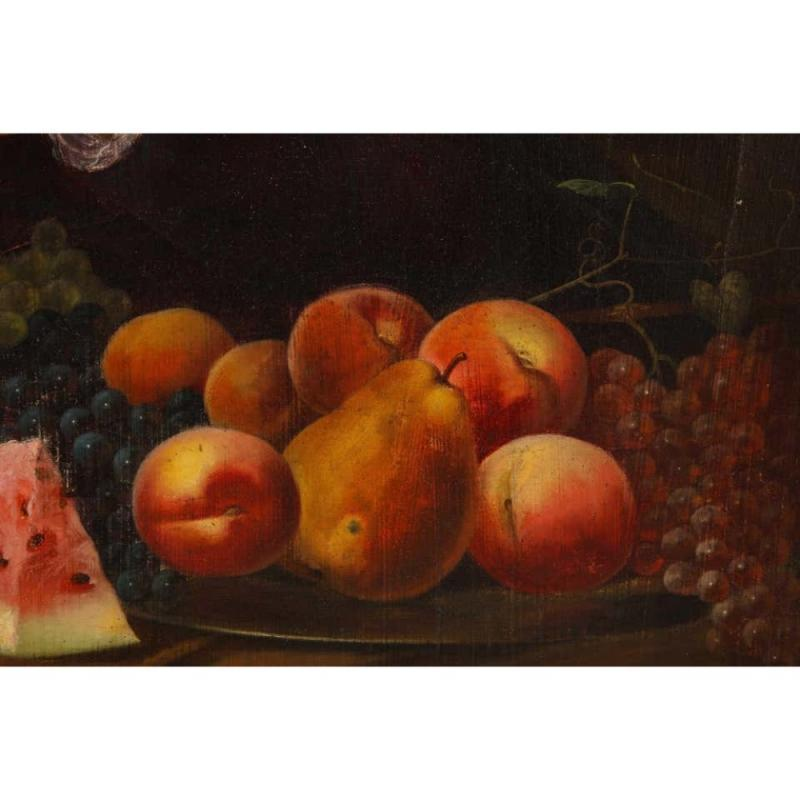 A Beautiful Oil on Canvas Portrait Painting of a Fruit Seller, 19th Century C. 1813