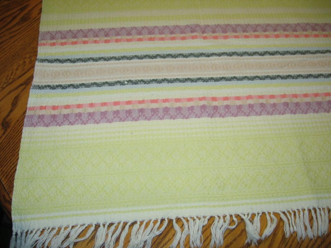 WESTERN Phoenix Bird Tablecloth  - Vintage Textile