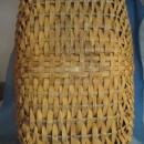 BUTTOCK BASKET - Antique Primitive Woven Splint Wood