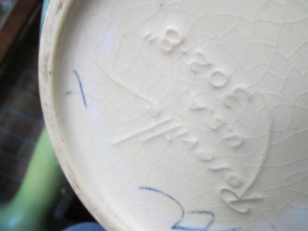 APPLE BLOSSOM  Genuine Roseville  Art Pottery Pedestal AND Jardiniere