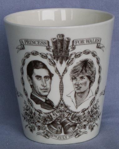 ROYAL DOULTON 1981 Royal Wedding Porcelain Beaker