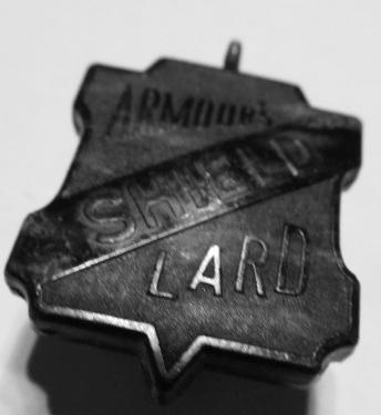 Bakelite Armor's Shield Lard Watch Fob
