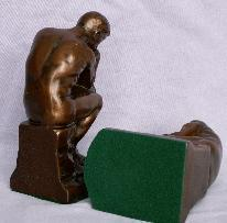 Nuart Bronzed Cast Metal THINKER Bookends - Metalware