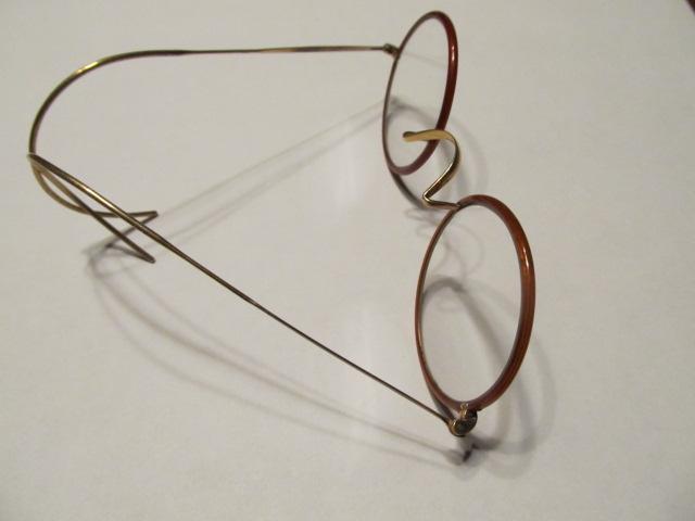 Eye Glasses Round Plastic Rim - Glass