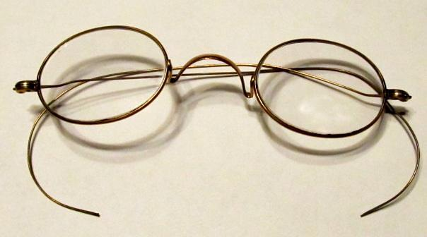 Gold Eye Glasses  Oval Reading - Glass