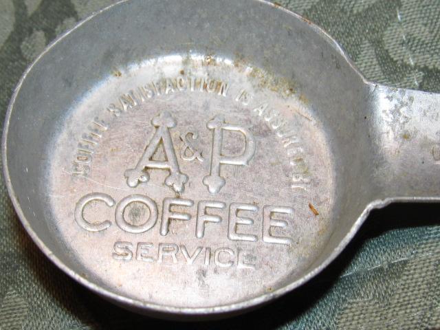 A&P COFFEE Measure Spoon - Metalware