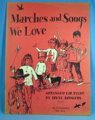 old Children's MARCHES and SONGS WE LOVE - Vintage Sheet Music - paper