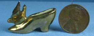 Miniature pair  Shoes - Vintage Porcelain Mini