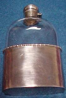 FLASK Sterling Glass Drinking Bottle  - Silver